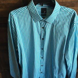 J. Ferrari long sleeve button down dress shirt